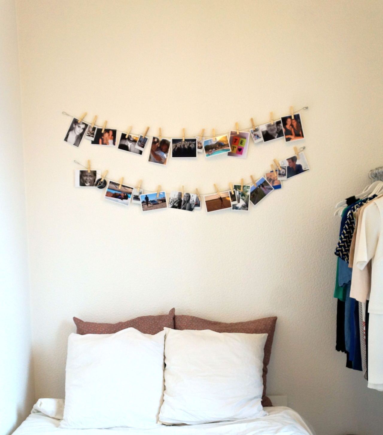 Diy 9 un porte photo original le blog d 39 avant garde for Porte photo mural