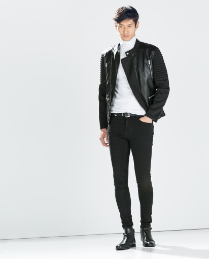 Blouson manches néoprène Zara 90€