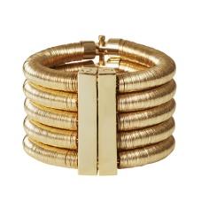 Bracelet en cuir et laiton, 49,99€