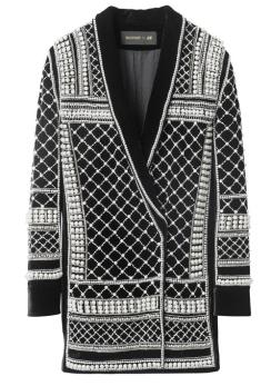 Manteau croisé brodé, 399€